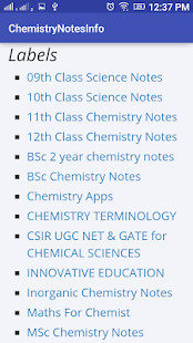 chemistry notes info apps on google play