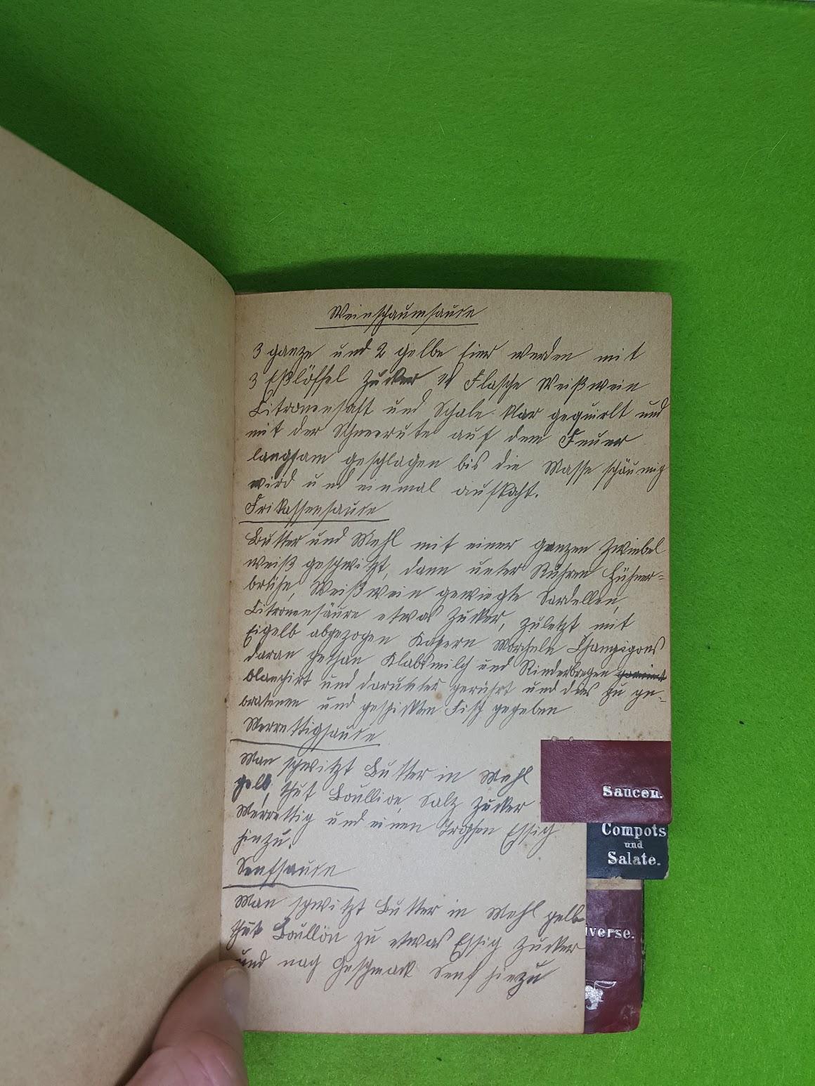 Rezeptbuch von 1907 - Saucen