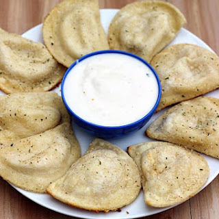Parmesan Ranch Crusted Pierogies