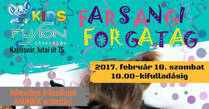 Gyermekfarsang - farsangi forgatag Kaposvár 2017.02.18