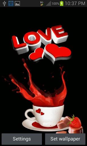 Coffee Love Live Wallpaper