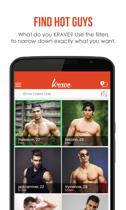 Krave - Gay Chat & Gay Dating- screenshot
