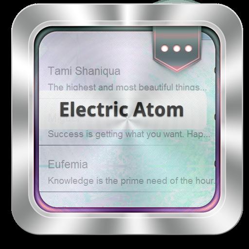 个人化の電気アトム GO SMS LOGO-記事Game