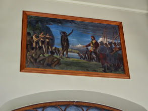 Photo: Jacques Cartier meeting an Indian Bad news for the Iroquois.