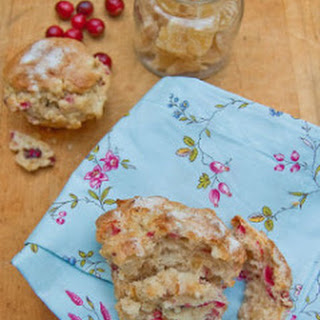 Cranberry, Pear, and Crystallized Ginger Muffins Recipe