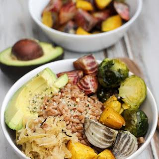 Vegan Farro & Winter Veggie Bowl