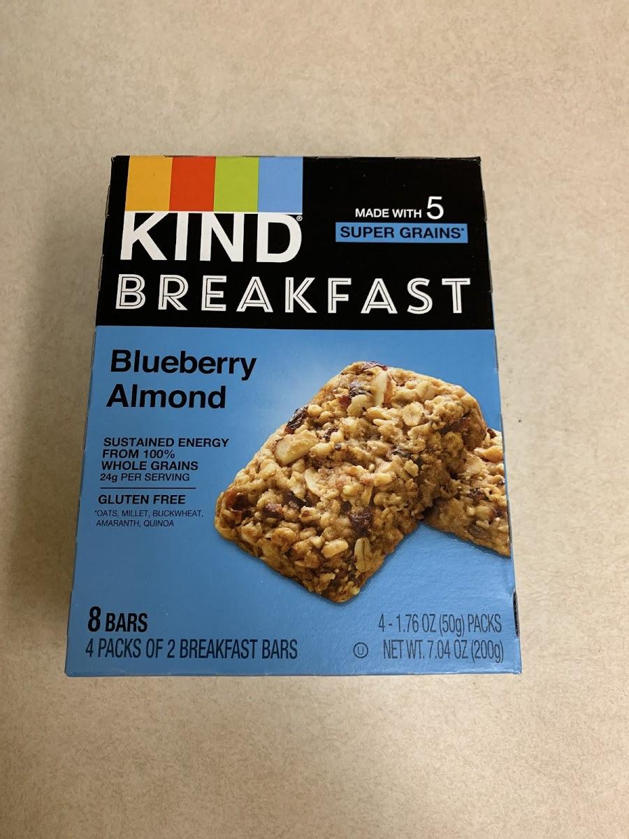 Blueberry Almond Breakfast Bar