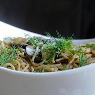 Pasta in a Fresh Dill-White Wine Cream Sauce.