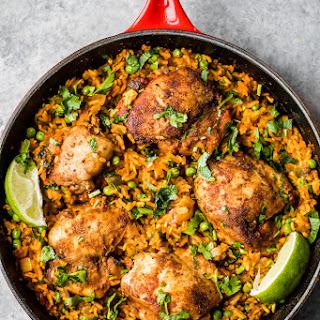 Mama's Puerto Rican Chicken and Rice (Arroz con Pollo).