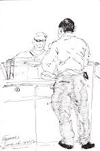 Photo: 辦手續2012.06.04鋼筆 收容人無論是借提、假釋、期滿出監、出庭、新收入監,都得到中央台辦手續,場景相同,命運可大大不同…