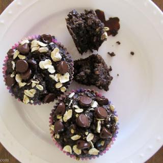Healthy Chocolate Oatmeal Muffins.