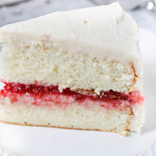 Lemon Layer Cake with Raspberry Filling and Vanilla Buttercream Recipe
