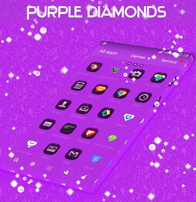 Purple Diamonds GO Theme - screenshot