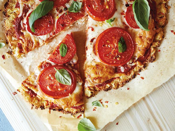 Tomato & Basil Cauliflower Pizza
