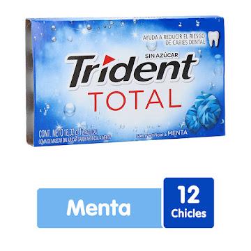Goma De Mascar Trident   White Total Menta X12Und.
