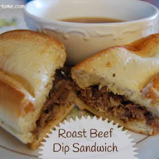 Roast Beef Dip Sandwiches.