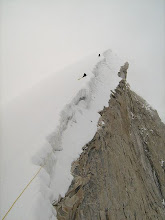 Photo: Cornice was the route..  sheer drop at right!!!