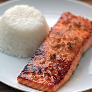 Miso-Ginger Marinated Salmon.