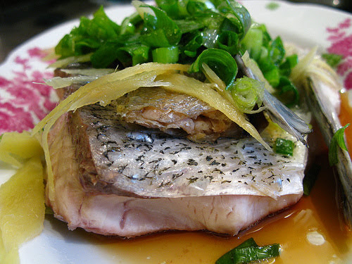 chinese Steamed Fish with Salted Fish recipe