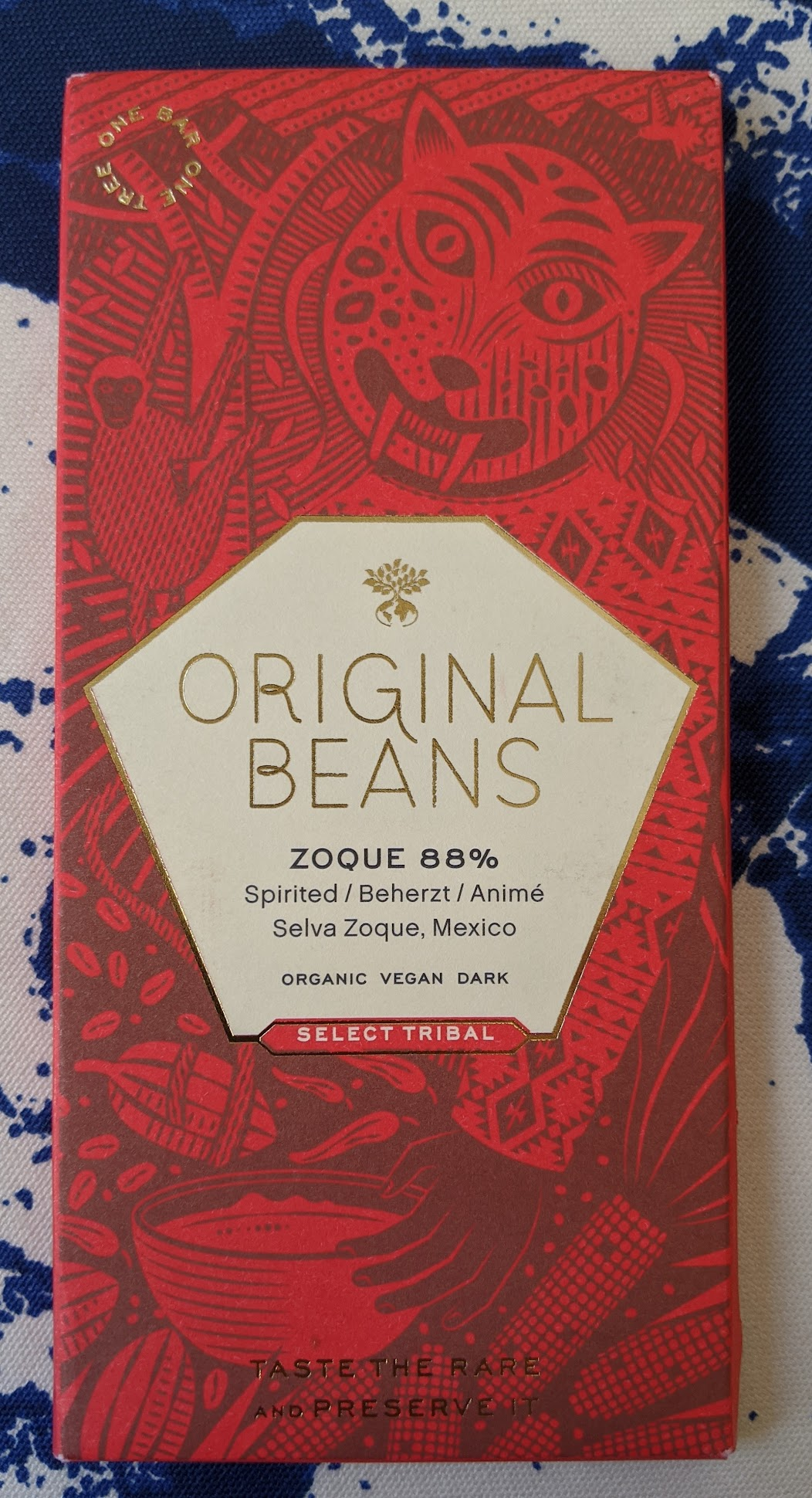 88% original beans zoque bar