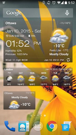 Weather & Clock Widget Android screenshot 1