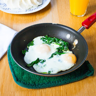 Handful of Spinach and Eggs Over Easy Recipe