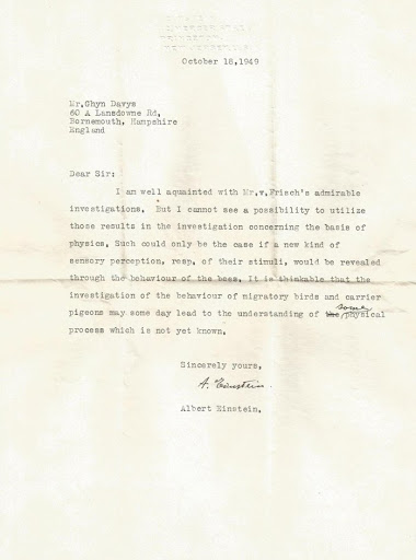 Long-Lost Letter Reveals Einstein Predicted The Discovery Of Animal Super Senses