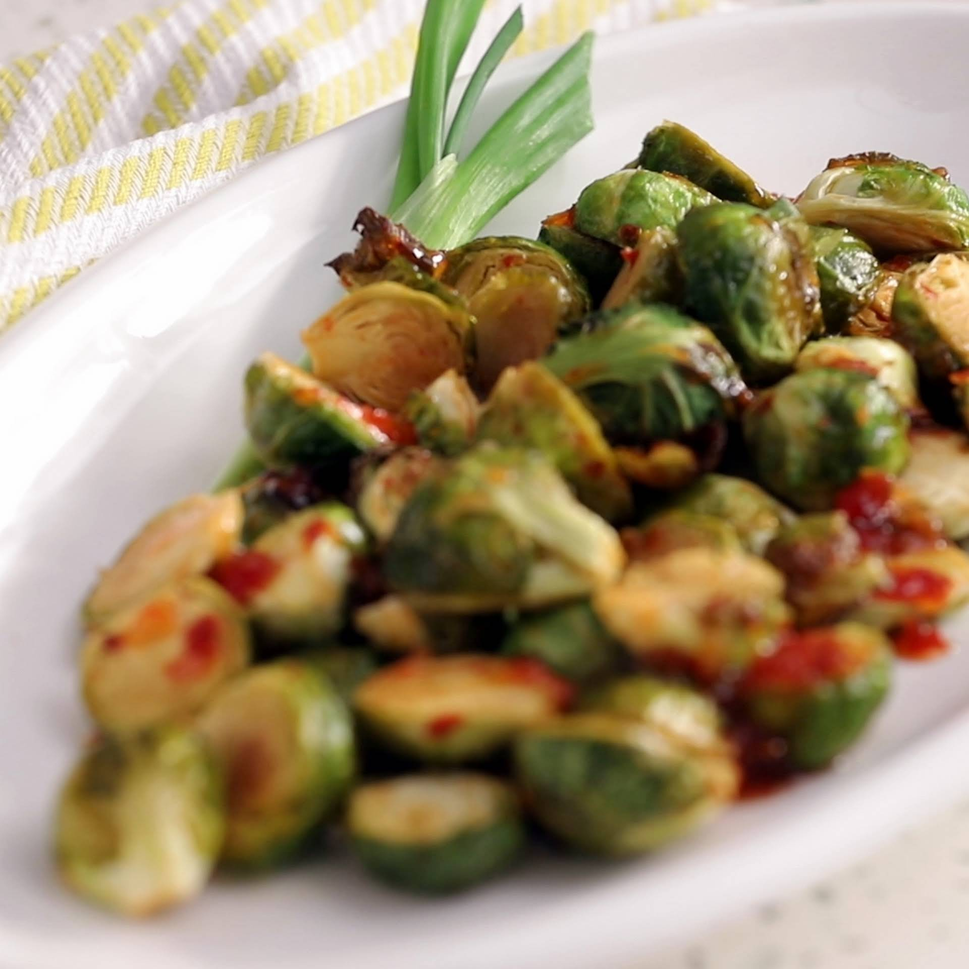 Sweet Chili Roasted Brussels Sprouts Recipe Yummly