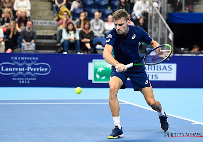 Coach Thomas Johansson is lovend over zijn poulain David Goffin