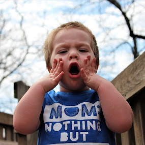 Not another picture mom by Marsha Grimm - Babies & Children Children Candids ( funny, adorable, boy,  )