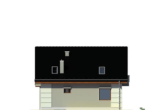 Nowinka III z garażem 1-st. A na paliwo stałe - Elewacja tylna