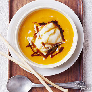 Butternut Squash Soup with Ravioli