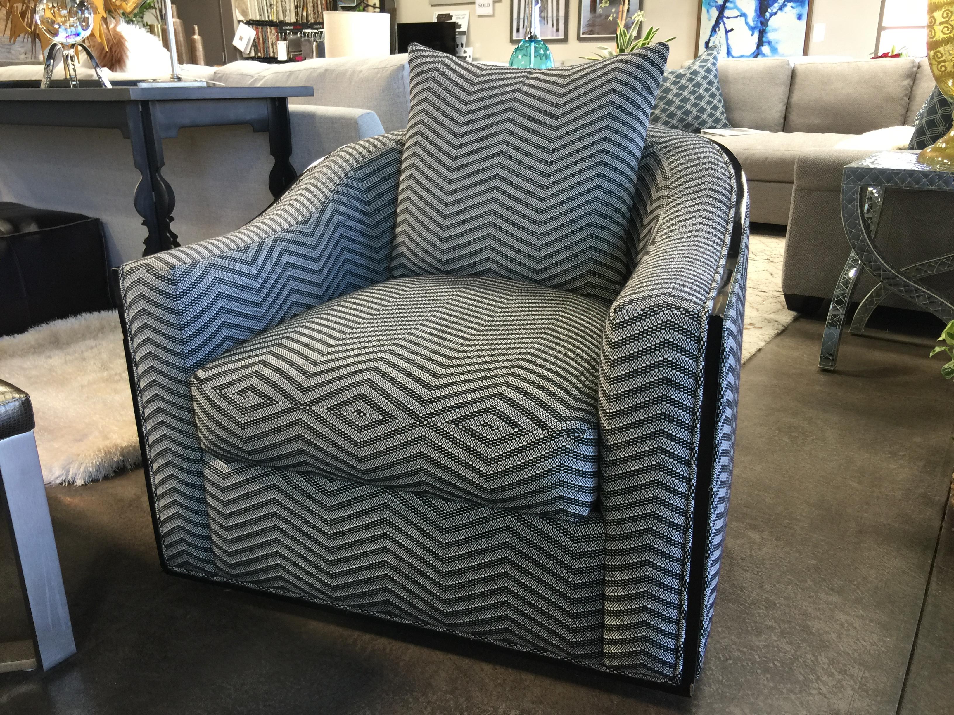 RC Furniture Caiden Wood Trim Swivel Chair