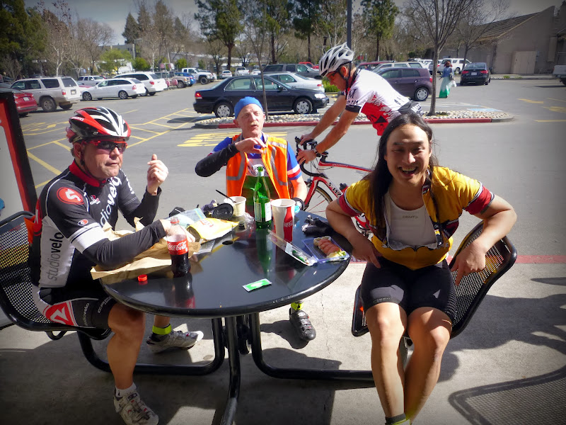 Photo: A small group of us left after just a quick stop at Healdsburg - these guys sat for a full lunch