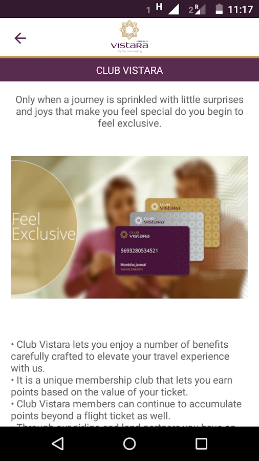 Vistara- screenshot
