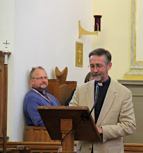 Photo: The Anglican Chaplain in Hamburg welcomes participants to Evensong sung .....