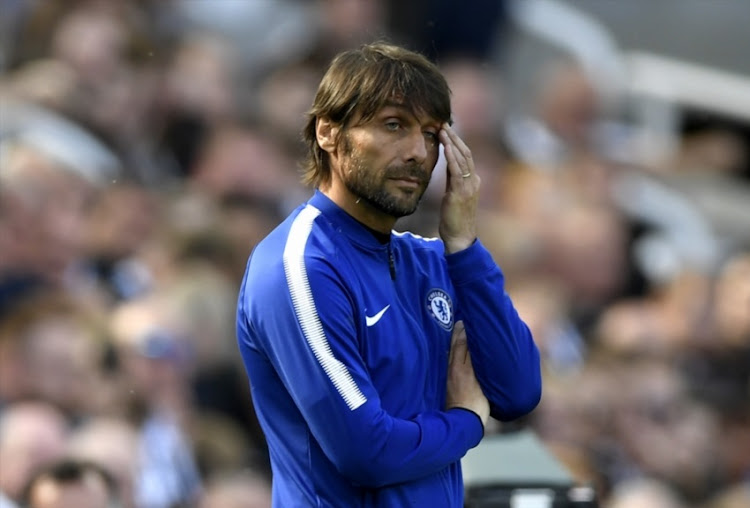 Antonio Conte, Manager of Chelsea reacts during the Premier League match between Newcastle United and Chelsea at St. James Park on May 13, 2018 in Newcastle upon Tyne, England.