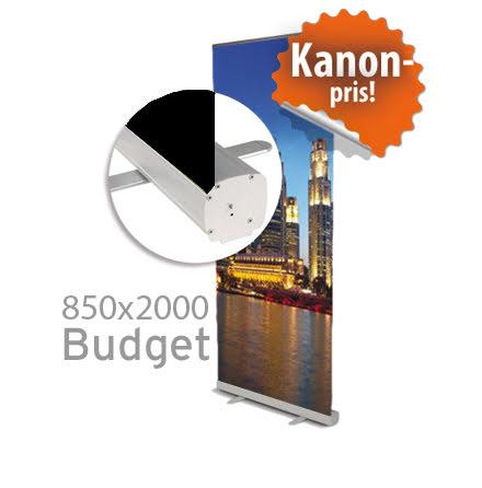 Roll up, Budget, 850x2000mm, inkl printad bildvåd