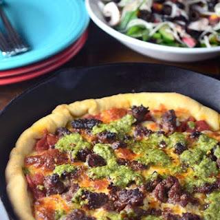 Sausage Pesto Pizza