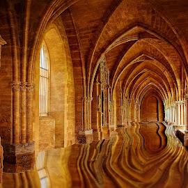 Le cloitre inondé by Gérard CHATENET - Digital Art Places