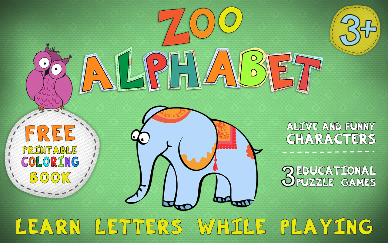zoo alphabet for kids android apps on google play
