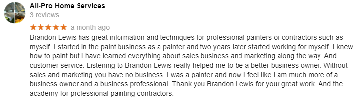 All Pro Painting Review