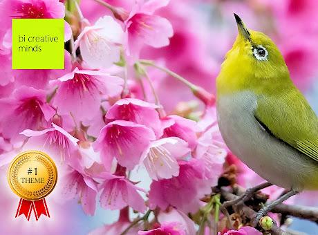 Japanese Bird & Cherry Blossom