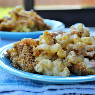 Baked Macaroni and Cheese with Ham.
