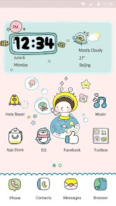 Bebe Bubbles - Hola Theme screenshot 0
