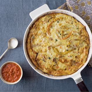Crab And Roasted Corn Frittata