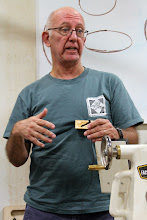 Photo: Manu Suarez talks about his time teaching woodturning in Honduras for AAW.