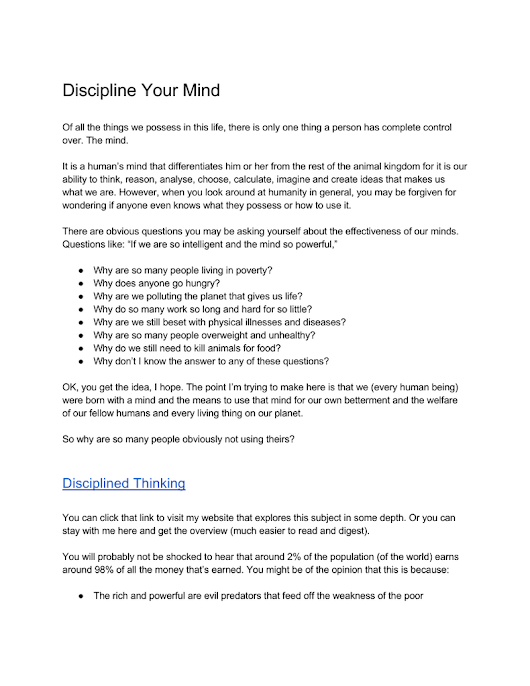 Discipline Your Mind