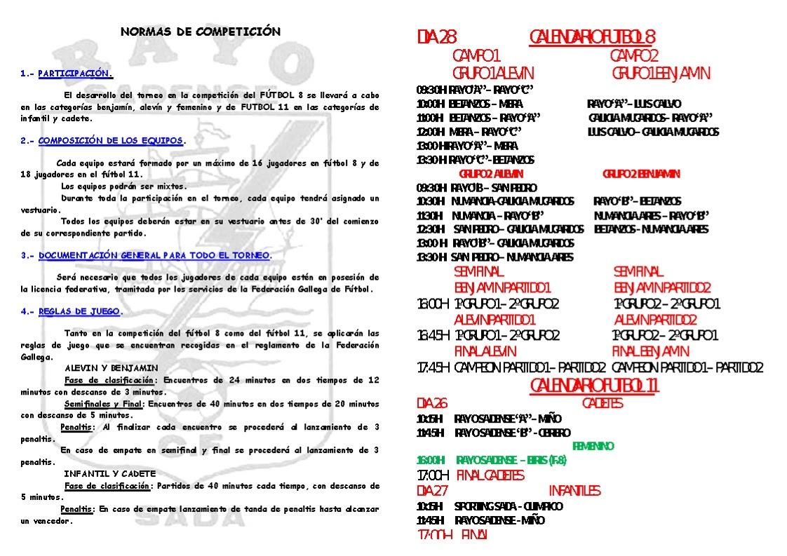 ADR Numancia de Ares. Rayo Sadense torneo de base. Futbol 8. Alevines y Benjamines