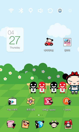 Pucca in Alice Launcher Theme